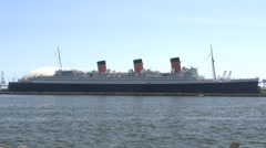 4K RMS Queen Mary - stock footage