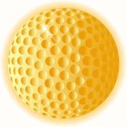 Gold golf ball Piirros