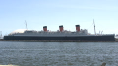 4K RMS Queen Mary, Long Beach, California Stock Footage
