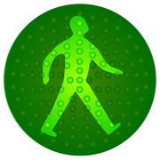 Green walking man Stock Illustration