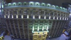 Facade of edifice of headend system design bureau Stock Footage