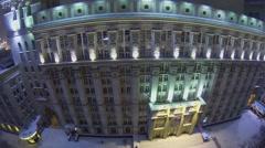 Exterior of edifice of headend system design bureau Stock Footage