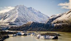 Glacial Mountains - stock photo