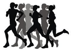Stock Illustration of marathon