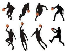 basketball player - stock illustration