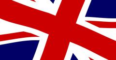 union jack close up - stock illustration