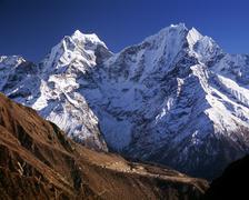 Thamserku, Himalaya, Nepal - stock photo