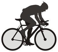 Bicyclist Stock Illustration