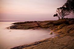 Pastel Rocks at Sunset - stock photo
