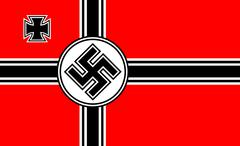 nazi flag - stock illustration