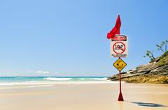Surf Beach Flags - stock photo