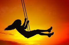 Swinging child Stock Illustration