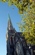 Christchurch Cathedral - stock photo