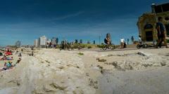 Tel Aviv beach panoramic time lapse Stock Footage