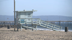 4k Lifeguard Tower Stock Footage
