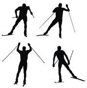 Skiing Stock Illustration
