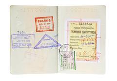 Isolated Passport - stock photo