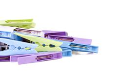 Pegs Isolated - stock photo