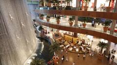 Waterfall in Dubai Mall Stock Footage