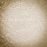 Creased Sepia Fabric Background - stock photo
