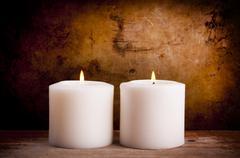 White Candles Stock Photos