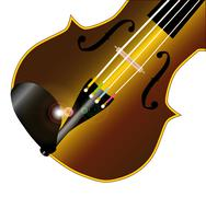 fiddle closeup - stock illustration
