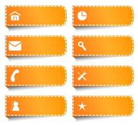 Stock Illustration of vector labels or buttons for internet