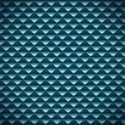 abstract blue mosaic vector background - stock illustration