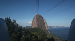 Cable car sugarhill mountain Stock Footage
