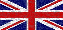 Grunge union jack flag Stock Illustration