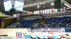 Stock Video Footage of Junior World Boxing Championships 2013 in Kiev, Ukraine.