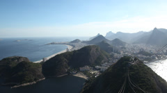 View Rio from pao de acucar Stock Footage