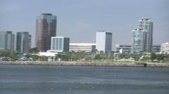 Long Beach Skyline Stock Footage