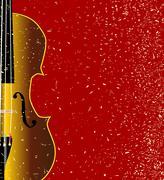 grunge violin - stock illustration