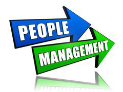 People management in arrows Stock Illustration