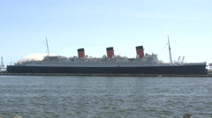 RMS Queen Mary, Long Beach, California Stock Footage