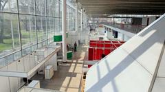 training pavilions - stock footage