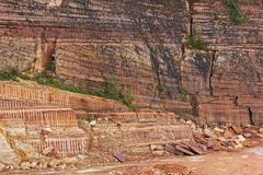 quarry of sandstone - stock photo