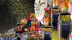 Carnaval Parade sambadrome Stock Footage