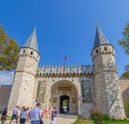 Topkapi Palace The Gate of Salutation, Istanbul Stock Photos