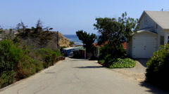 Historic Beach Cottages Rental Units- Crystal Cove State Park Stock Footage