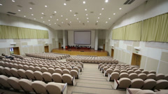 Auditorium in Federal State Statistics Service of Russia Stock Footage