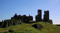 Castle ruins Stock Footage