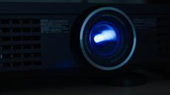 2.5K Digital Video Projector On Stock Footage