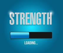 strength loading concept illustration design - stock illustration