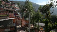 Favela Babilonia Rio de Janeiro Stock Footage