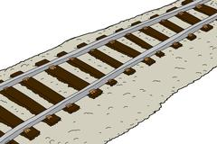 railroad tracks - stock illustration