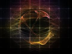 Accidental Particle Grid Stock Illustration