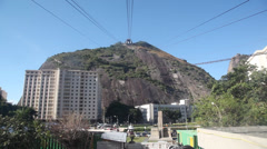 Stock Video Footage of Cable car ride pao de acucar