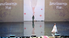 Contestants Beauty of Russia 2012 on the stage Stock Footage